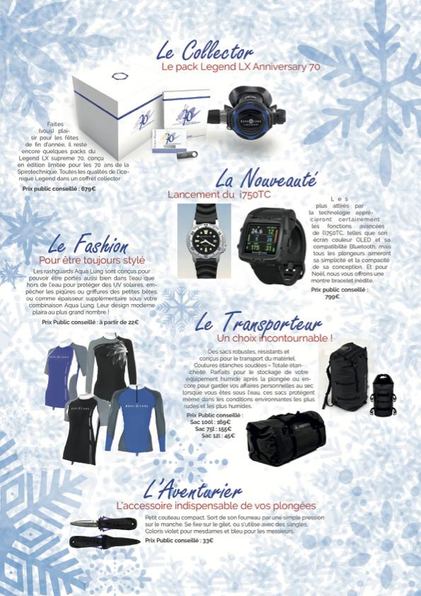 Aqua Lung : des idées de cadeaux pour Noël !