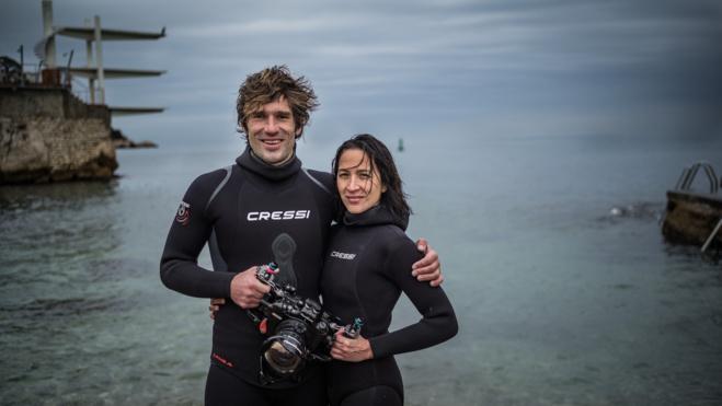 Guillaume Néry et Julie Gautier, parrain et marraine de l'édition 2019 du Salon de la plongée.