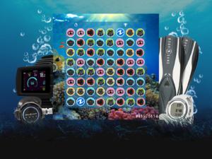 """Le jeu en ligne """"Candy Lung"""" créé par Aqua Lung."""