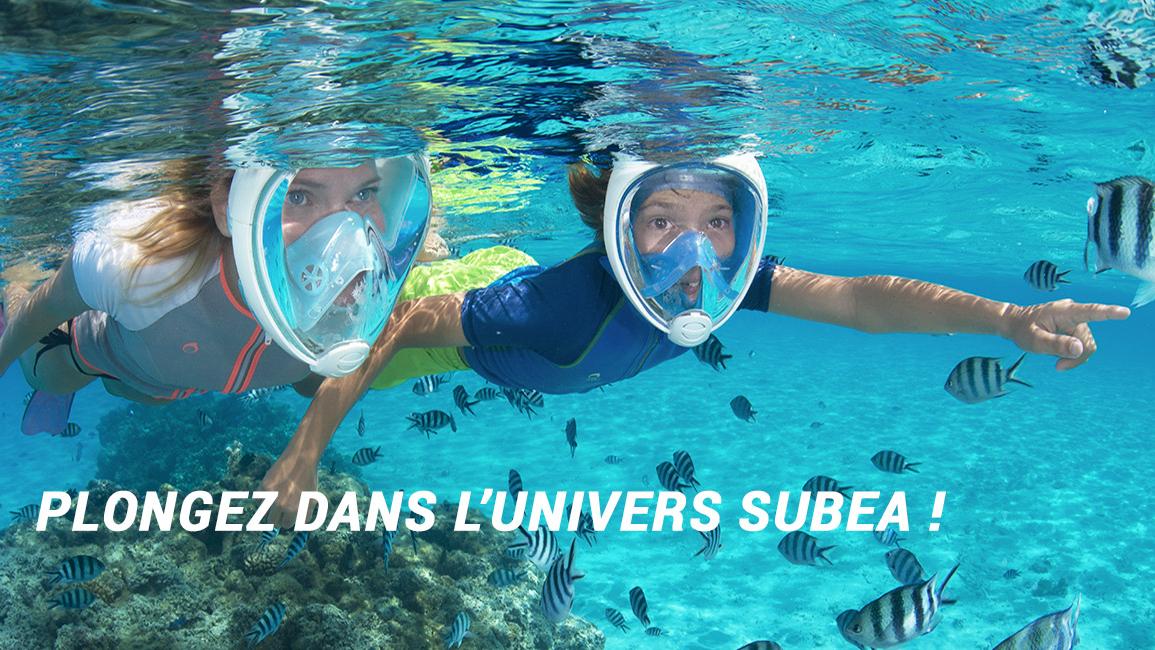 Le célèbre masque Easybreath de SUBEA, idéal pour le snorkeling.
