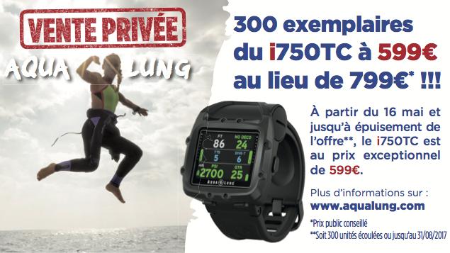Vente Privée Aqua Lung : l'ordinateur i750TC à 599€ au lieu de 799€ !