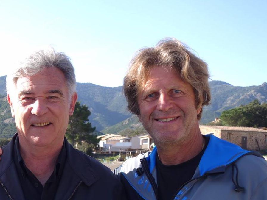 René Heuzey (à droite) en compagnie de Georges Pernoud de Thalassa.
