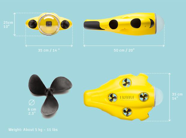 iBubble : le drone sous-marin autonome est disponible en pré-achat !