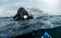 Ghislain Bardout en plongée polaire